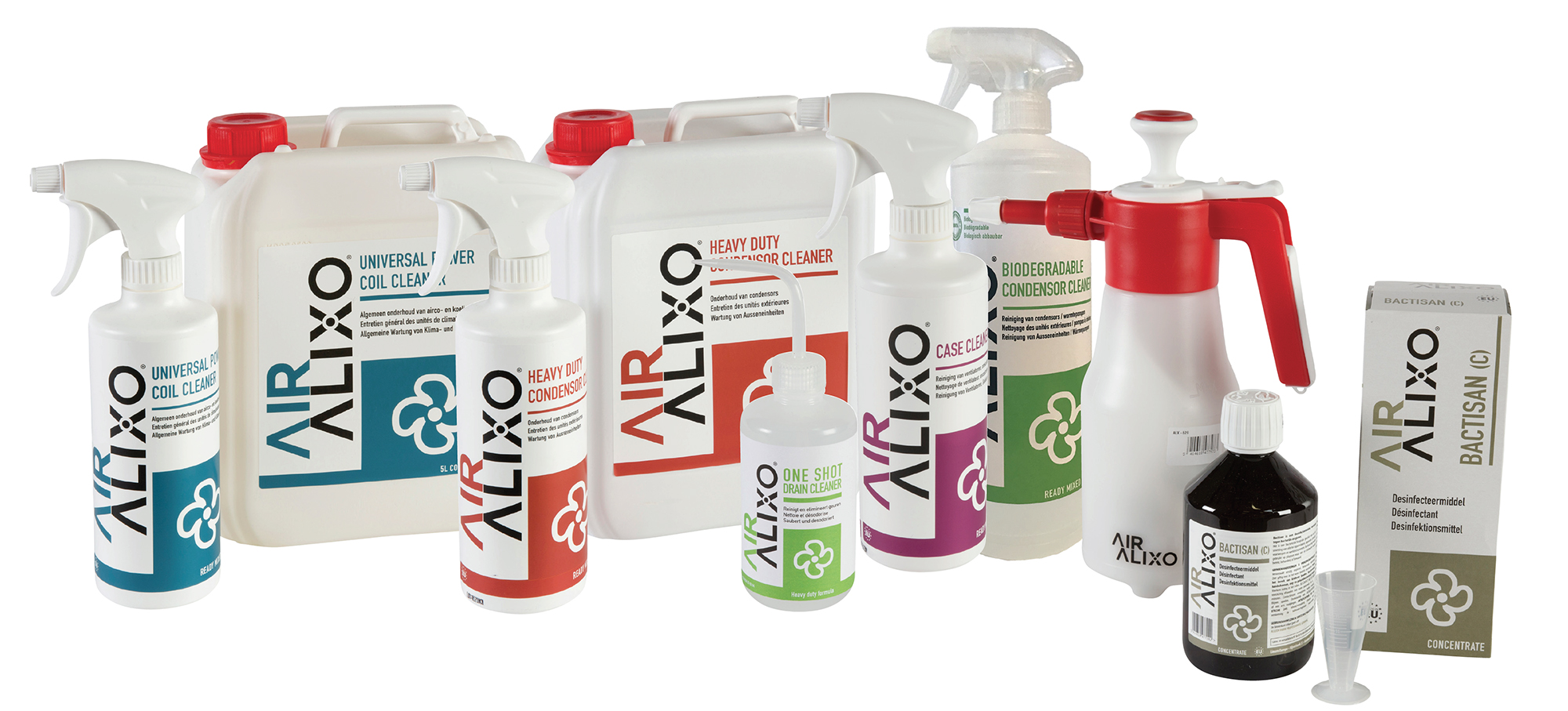 Photo with multiple Air Alixo products