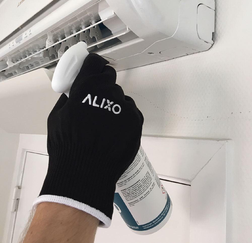 Air Alixo HVAC cleaning product being used
